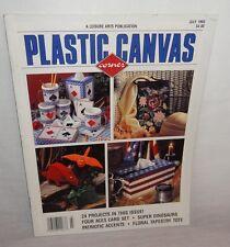 Plastic Canvas Corner Magazine July 1995 24 Designs Dinosaurs  Patriotic Tote
