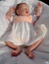 HAND PAINTED REBORN DOLL PREM TWIN B BY BONNIE BROWN + CERTIFICATE - NEW PHOTOS