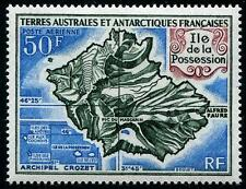 FRENCH ANTARCTIC Sc.# C20 1969 Map of Kerguelen Island Airmail Stamp