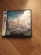 Heroes of Mana Nintendo DS NDS Cib Game Complete Nice BDS1