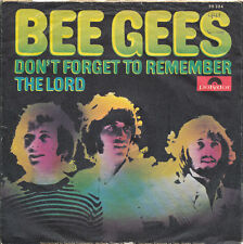 "7"" - BEE GEES - DON'T FORGET TO REMEMBER / THE LORD - Polydor 59324 - DE 1969"