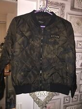 Ladies Camo Bomber Jacket Size 16 Bnwt