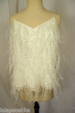 J Crew Collection Dewdrop Feather Cami Size 4 Ivory