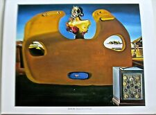 Salvador Dali Poster-Memory of the Child-Woman Unreal Face Out of Wall 14x11