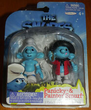Smurfs Set of 2 PVC/Cake Toppers Figures Panicky & Painter Grab 'Ems Jakks