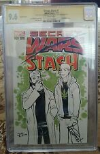 Secret Wars 1 blank variant CGC SS 9.6 sketched Millien & signed by Jason Mewes