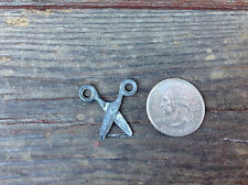 Miniature Pewter Scissors - Works !!