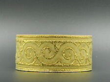 ~AWESOME METALLIC GOLD SWIRL*JACQUARD BRAID/TRIM*35mm
