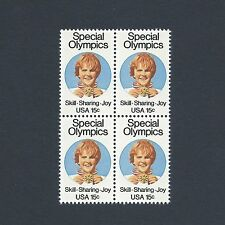 Special Olympics - Vintage Mint Set of 4 Stamps 38 Years Old!