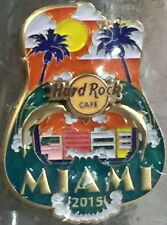Hard Rock Cafe MIAMI FL 2015 City ICONS Series PIN New on Card LE 200 HRC #84497