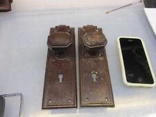 Vintage Bakelite Door Knobs Handles Plates Architectural Antique Old Art Deco