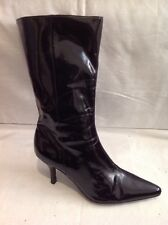 Marks&Spencer Black Mid Calf Leather Boots Size 5.5
