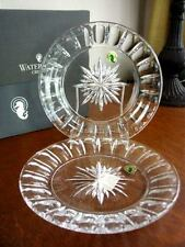 "Waterford Crystal BOLTON Grafton Street  8"" Accent Plates - Set / 2  RARE - NEW!"