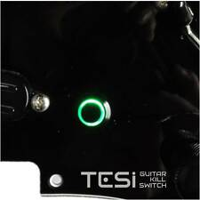 Tesi POCO 12MM LED Momentary Guitar Kill Switch Black / Green