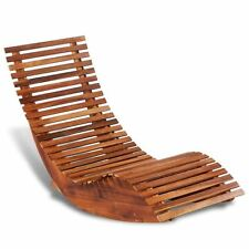 Outdoor Rocking Chair Acacia Wood Recliner Reclining Wooden Patio Deck Lounger
