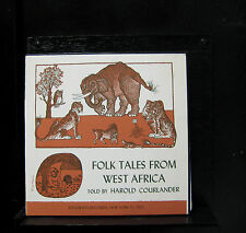 "Harold Courlander - Folk Tales From West Africa 10"" LP VG+ FC 7103 Vinyl Record"
