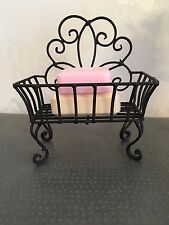 Shabby Chic Soap Dish Holder Stand Black Scroll French Vintage Bathroom Kitchen
