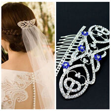 Twilight Breaking Dawn Bella's Hair Comb Bridal Crown Wedding  Blue Crystals