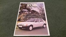 July 1987 PEUGEOT 205 JUNIOR Special Edition 3/5 Door UK COLOUR FOLDER BROCHURE