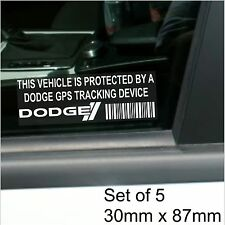 5 x Dodge GPS Tracking Device Security Stickers-Charger,Viper Car Alarm Tracker