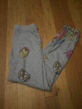 MARVEL COMICS AVENGERS PRINT  fleece lined leggings GIRLS 7/8 NWOT