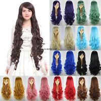 Clearance Price Wig Long Straight Curly Wavy Cosplay Full Wigs Hair Nets Blonde