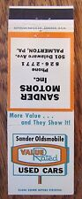 OLDSMOBILE CAR DEALER: SANDER MOTORS (PALMERTON, PENNSYLVANIA)  -S29