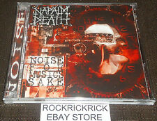 NAPALM DEATH - NOISE FOR MUSICS SAKE -2 CD SET 56 TRACK CD- EXCELLENT CONDITION
