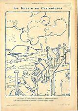 Caricature Guerre Sous-Marine Baleine Whale/Beffroi Hôtel de Ville de 1918 WWI