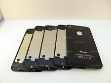 LOT OF 5x BLACK iPHONE 4S A1387 BACK GLASS REAR DOOR BATTERY COVER PLATE MINT US