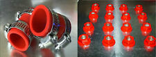 Banshee Lug nuts and exhaust pipe clamps fmf,dg, Factory (Red) DRESS UP KIT