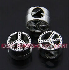 P429 15pc Tibetan Silver Charm peace Spacer Beads accessories wholesale