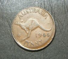 1944 Australian Penny, Error Miss struck, off set rim error
