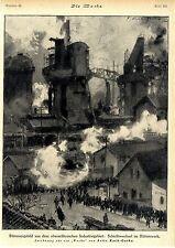 Milieustudie de Fritz Koch-Gotha población planta siderúrgica 1921