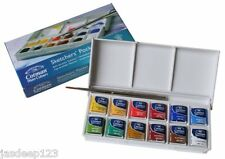 Winsor and newton cotman aquarelle sketchers pocket box set 12 moules moitié