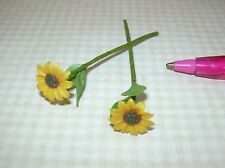 Miniature Loose Stems, Sunflowers (2): DOLLHOUSE Miniatures 1/12 Scale