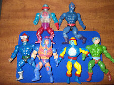 Lot of 6 Masters of the Universe MOTU Vintage Action Figures some wear He Man