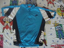 Vintage Nike Gray Tag cycling Jersey Blue Bicycle t stretch Shirt Men's Size S