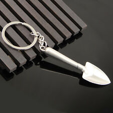 Mini Alloy Metal 3D Shovel Tool Key Ring Keyfob Keychain Lover Gift OO14