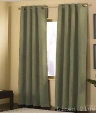 "2 Panels Sage Grommet Micro Suede Curtain Window Covering Drapes 54""x84"" Each"