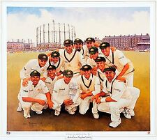 "2001 AUSTRALIAN CRICKET TEAM ~ "" by Dave Thomas ~ CAPTAIN ~. STEVE WAUGH"
