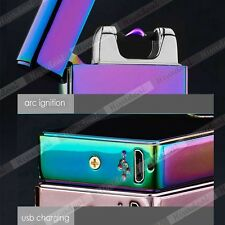 Electric Rechargeable Lighter Arc Flameless USB Cigarette Windproof Lighter WO2Y