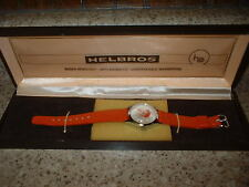Vintage-Jerry-Lewis-MDA-Telethon-Watch-17-Jewels-RED-BAND Helbros