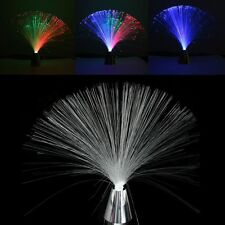 New LED Multi Colour Changing Fibre Optic Fountain Night Light Lamp Home Decor