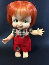 "Vintage Japan Forsum 784 Big Eye Red Hair Tongue Out Doll 6 1/2"" Inch 5H"