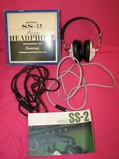 Sansui Stereo Headphones Model SS+2 SS + 2 in Original Box & Instructions SS-2