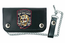 LUCKY 13 [BOOZE BIKES BROADS PATCH] GELDBÖRSE WALLET ROCKABILLY GREASE TATTOO  L