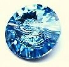 14 mm SWAROVSKI CRYSTAL BUTTON - AQUAMARINE