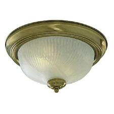 SEARCHLIGHT FLUSH FITTING CEILING LIGHT ANTIQUE BRASS FINISH 7622-11AB