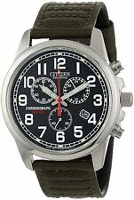 Citizen Men's AT0200-05E Eco-Drive Stainless Steel Watch with Canvas Band